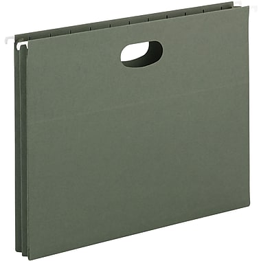Smead® Hanging File Pockets, Letter, Standard Green, 25/Box