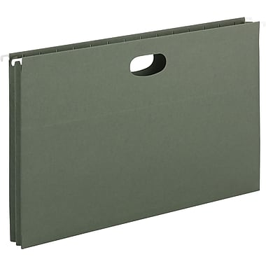 Smead® Hanging File Pockets, Legal, Standard Green, 25/Box
