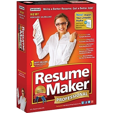 Resume Maker® Professional Deluxe 18, Bilingual