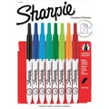 Sharpie ® Retractable Permanent Marker, Ultra Fine Point, Assorted, 8/Set