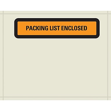 Packing List Envelopes, English Panel Style, 1000/Case