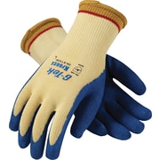G-Tek K-Force Seamless Knit Kevlar Cut Resistant Gloves, Yellow/Blue, Large, 12/Pair