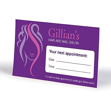 Custom appointment cards staplesr for Custom business cards staples