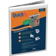 "QuickFit Deluxe Heavy-Gauge Clipboard, Grained, 8-1/2"" x 11"", White"