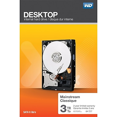 WD Desktop Mainstream 3TB Internal Hard Drive