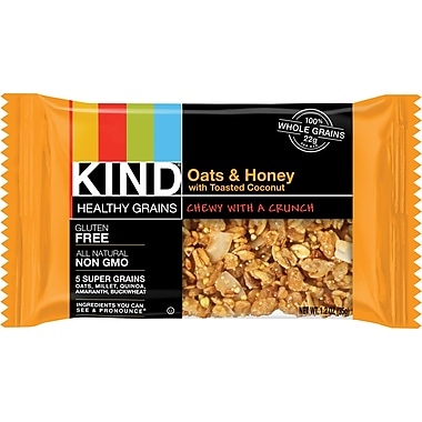 KIND Healthy Grains Oats & Honey with Toasted Coconut Granola Bar, 1.2 oz., 12Bars/Box