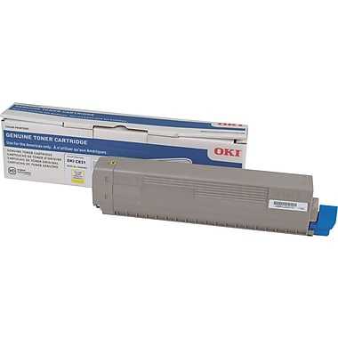 Okidata C831 Yellow Toner Cartridge (44844509)