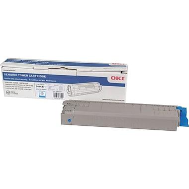 Okidata C831 Cyan Toner Cartridge (44844511)