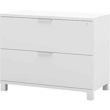 Bestar Pro Linea Collection Lateral File, White