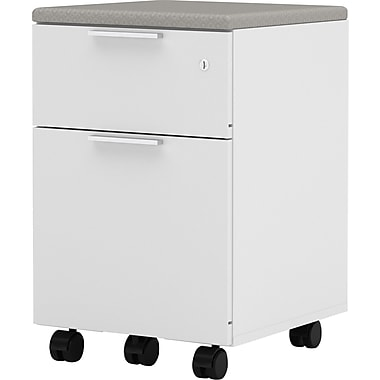 Bestar Pro Linea Collection Mobile Pedestal, White