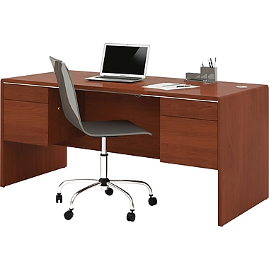 Bestar Fall Creek Executive Desk, Bordeaux