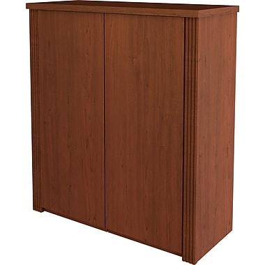 Bestar Prestige+ 2-Door Cabinet, Cognac Cherry