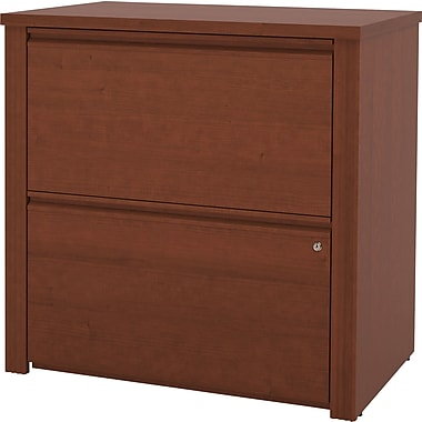 Bestar Prestige+ Lateral File, Ready to Assemble, Cognac Cherry