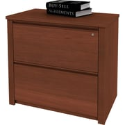 Bestar Prestige+ Lateral File, Fully Assembled, Cognac Cherry
