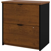 Bestar Innova Lateral File Cabinet, Tuscany Brown/Black