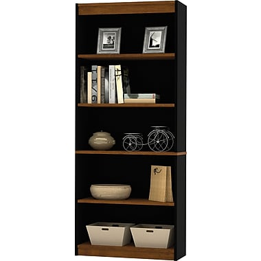 Bestar Innova Collection Modular Bookcase, 5-shelf, Tuscany & Black