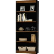 Bestar Innova bookcase in Tuscany Brown & Black