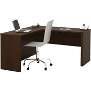 Bestar Prestige + Collection L-Shape Workstation, Chocolate