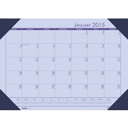 2015 House of Doolittle EcoTone Orchid Desk Pad Calendars, 22 x 17, 2015, Each