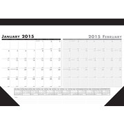 House of Doolittle™ 2015 , Monthly, January-December, Black 2 Month Desk Calendar, 18 1/2 x 13
