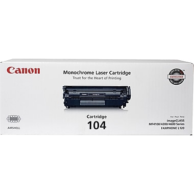 Canon® 104 Black Toner Cartridge (0263B001)
