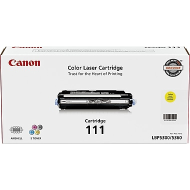 Canon CRG-111 Yellow Toner Cartridge (1657B001AA), High Yield