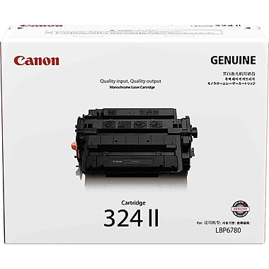 Canon 324 II Black Toner Cartridge, High Yield