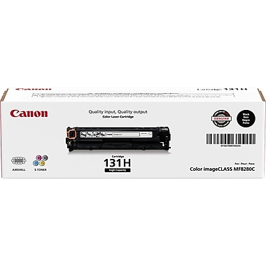 Canon 131 Black Toner Cartridge, High Yield (6273B001AA)