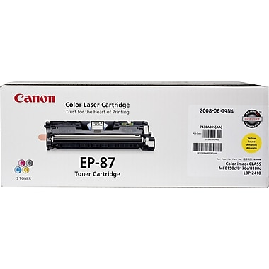 Canon® EP87 Yellow Toner Cartridge (7430A005)