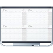 Quartet® Prestige® 2 Magnetic Four Month Calendar Board, 4' x 3', Total Erase® Surface (4MCP43P2)