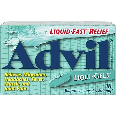Advil® Liqui-Gels®, Regular Strength, 16/Pack