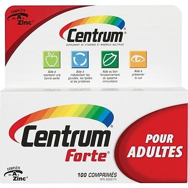 Centrum® – Supplément multivitamines/minéraux Forte® pour adultes, 100 comprimés