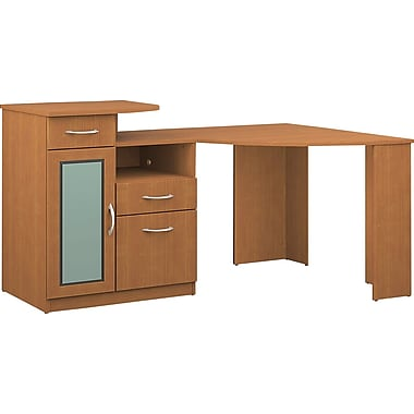 Bush Vantage Corner Desk, Light Dragonwood
