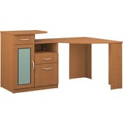 Bush Furniture Vantage 48W Corner Desk, Light Dragonwood