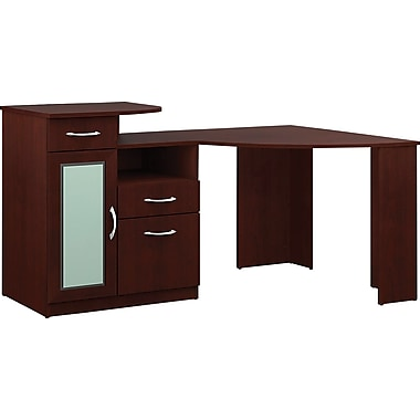 Bush Furniture Vantage 48W Corner Desk, Harvest Cherry