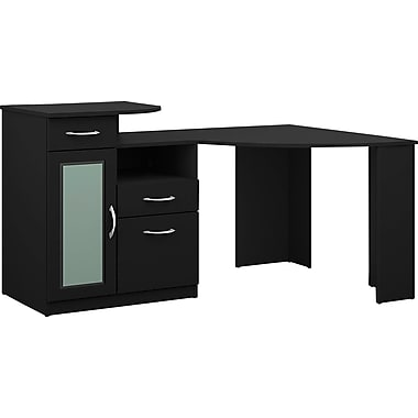 Bush Furniture Vantage 48W Corner Desk, Black