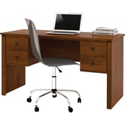 Somerville Executive desk with two pedestals  in Tuscany Brown
