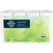 Brighton Professional™ 2-Ply Choose-Your-Size Paper Towels, 133 Sheets/Roll, 8 Rolls/Case (BPR25453)