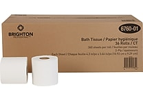 Brighton Professional™ Bath Tissue Rolls, 2ply, 36 Rolls