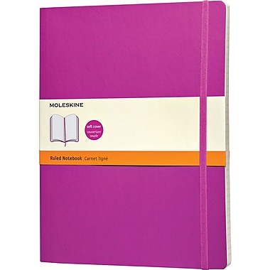 Moleskine Classic Colored Notebook, Extra Large, Ruled, Orchid Purple, Soft Cover, 7-1/2in. x 10in.
