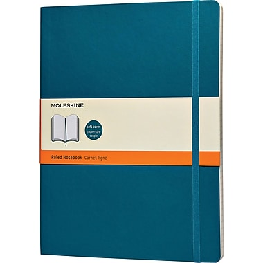 Moleskine Classic Colored Notebook, Extra Large, Ruled, Underwater Blue, Soft Cover, 7-1/2in. x 10in.