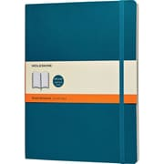 Moleskine Classic Colored Notebook, Extra Large, Ruled, Underwater Blue, Soft Cover, 7-1/2 x 10