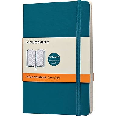 Moleskine Classic Colored Notebook, Pocket, Ruled, Underwater Blue, Soft Cover, 3-1/2