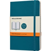 "Moleskine Classic Colored Notebook, Pocket, Ruled, Underwater Blue, Soft Cover, 3-1/2"" x 5-1/2"""