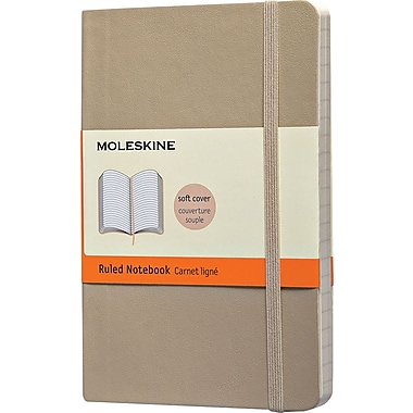 Moleskine Classic Notebook, Pocket, Ruled, Khaki Beige, Soft Cover, 3-1/2in. x 5-1/2in.