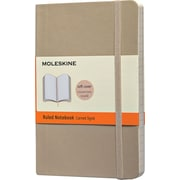 Moleskine Classic Notebook, Pocket, Ruled, Khaki Beige, Soft Cover, 3-1/2 x 5-1/2
