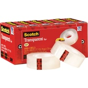 Scotch® Transparent Tape 600, 3/4x 27 yds, 1 Core, 6/Pack