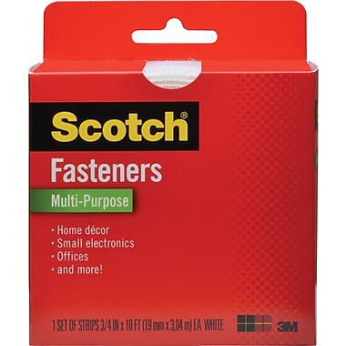 Scotch® Multi-Purpose Fastener, White, 3/4