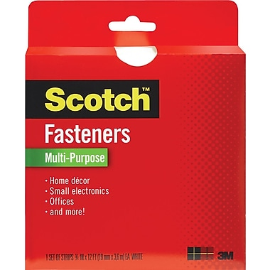Scotch® Multi-Purpose Fastener, White, 3/4in. x 12'