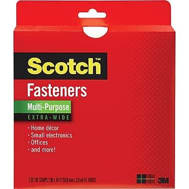 Scotch® Multi-Purpose Fastener Extra Wide, White, 2in. x 10'
